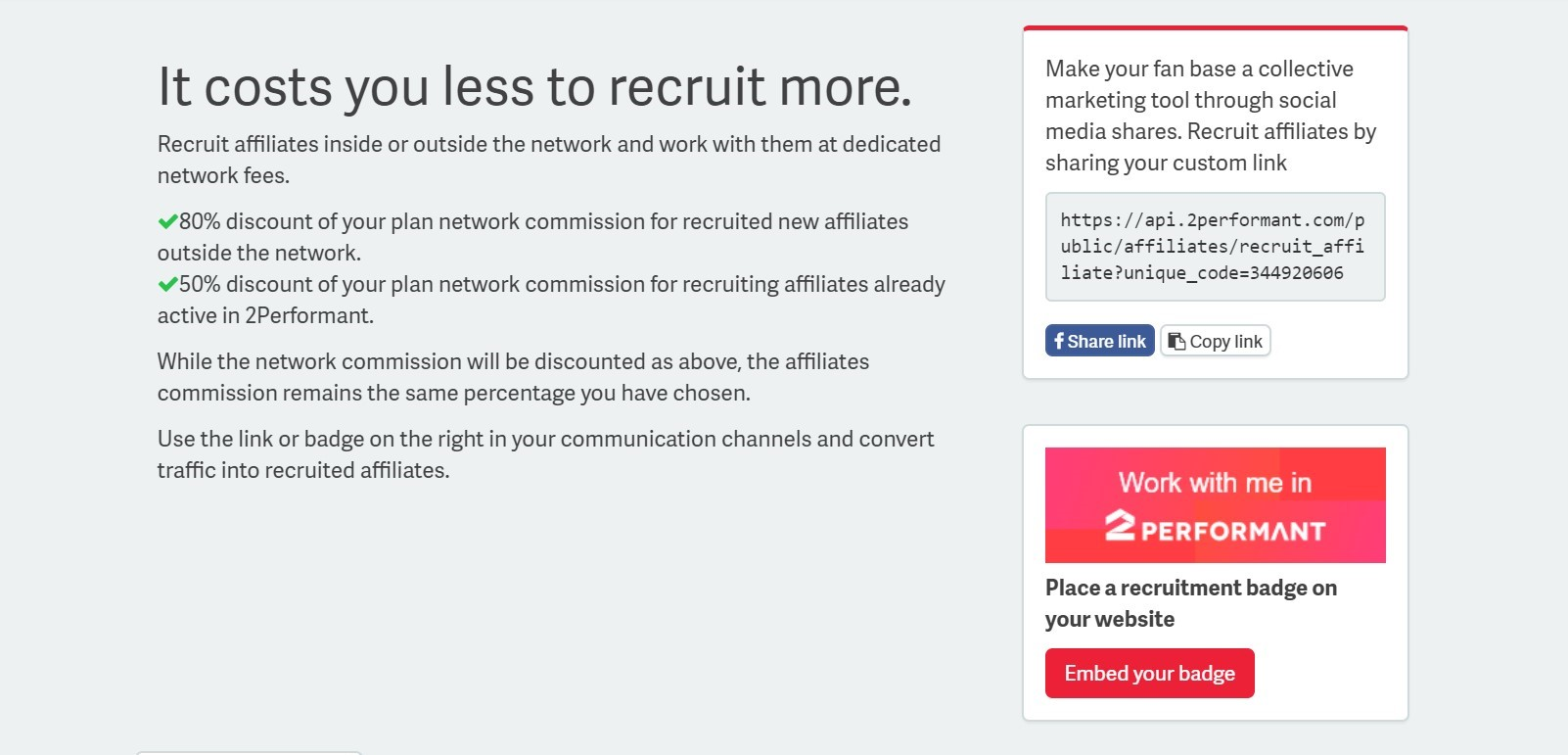 How can I recruit new affiliates? – 2Performant Support